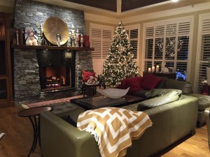 Another look at Jane's Christmas decor. It's festive, classy, warm and inviting.