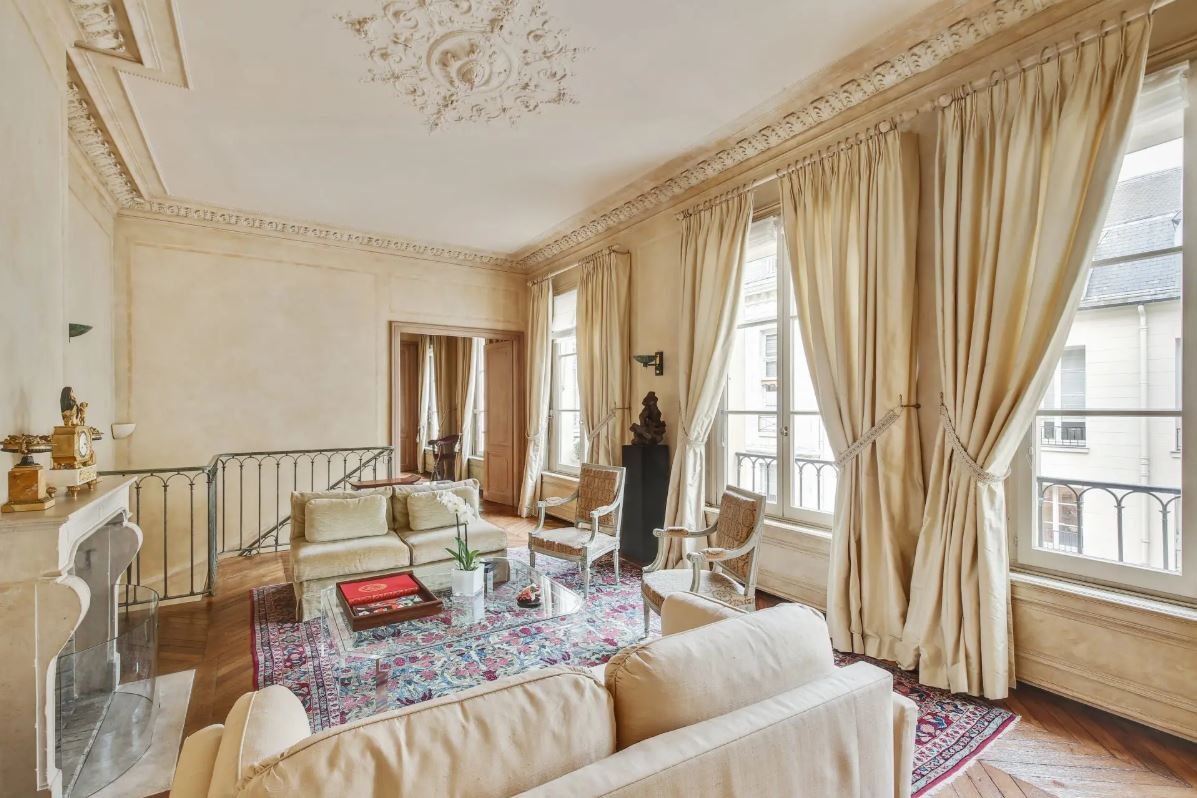Saint Germain des Pres luxury duplex apartment