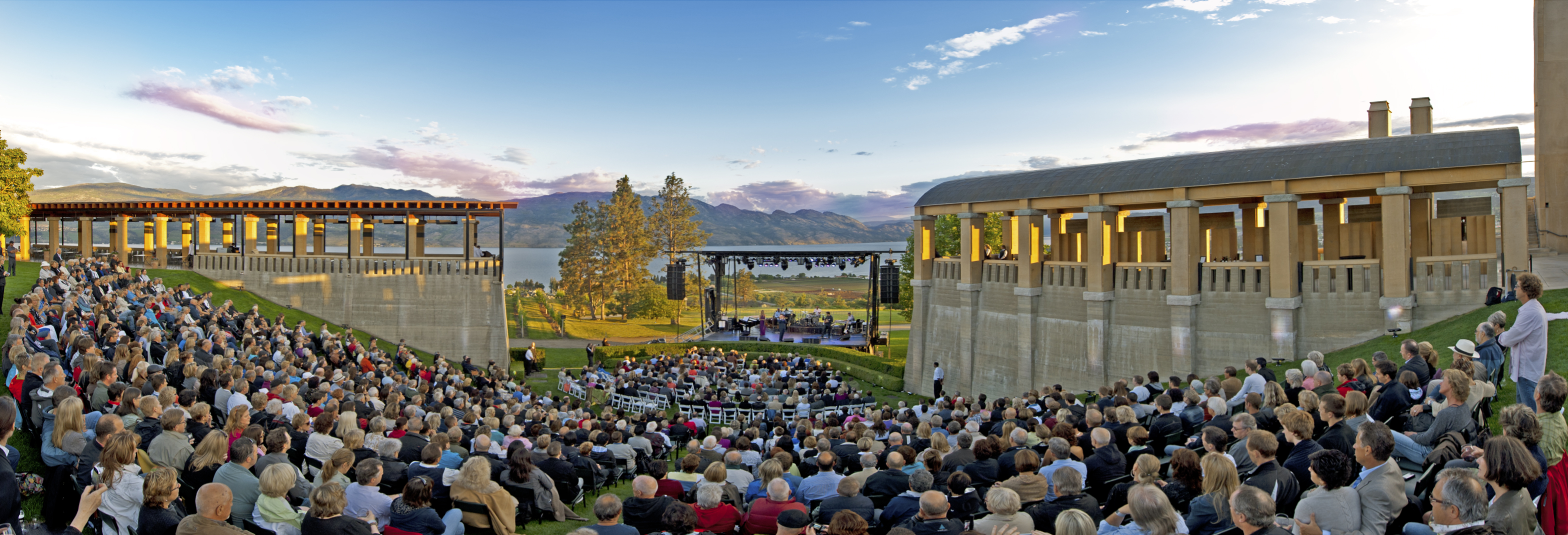 An outdoor concert at Mission Hill Winery in West Kelowna